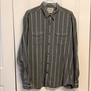 Luck Brand Flannel Shirt Size XL Striped
